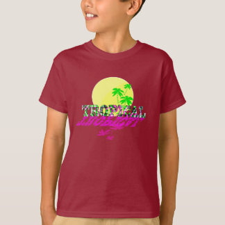 Tropical Exotic Sunshine Summery Text Graphic T-Shirt