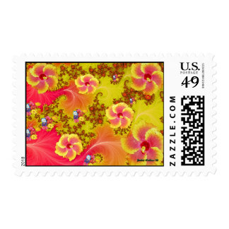 Tropical Fantasy Postage Stamp