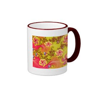 Tropical Fantasy Ringer Coffee Mug