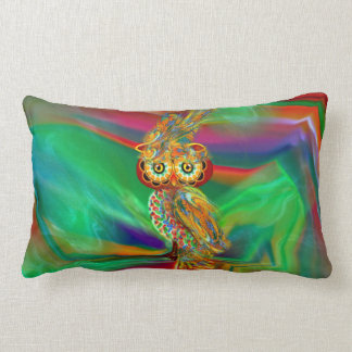 Tropical Fashion Queen Owl Pillow