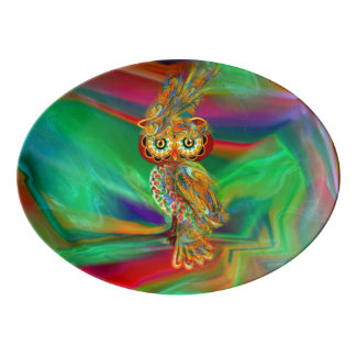 Tropical Fashion Queen Owl Platter