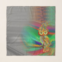 Tropical Fashion Queen Owl Scarf