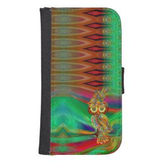 Tropical Fashion Queen Owl Wallet Case