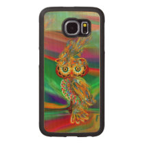Tropical Fashion Queen Owl Wood Case