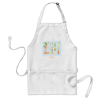 Tropical Fashions Paper Doll Adult Apron