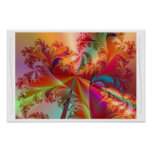Tropical Feathers Poster