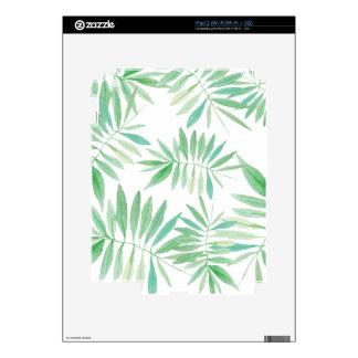 Tropical fern palm storm iPad 2 skins