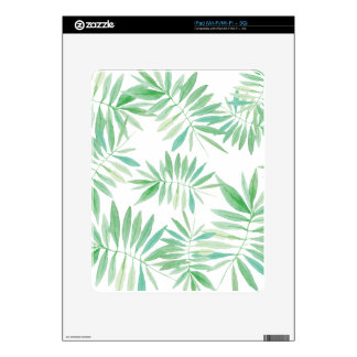 Tropical fern palm storm iPad skins