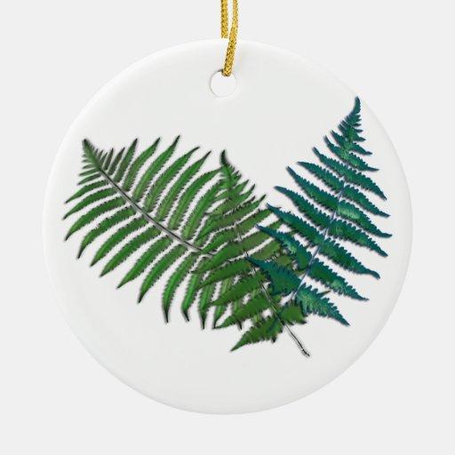 Tropical Fern Trio Ornaments