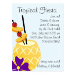 Tropical Fiesta Pool Party Invite Post Card