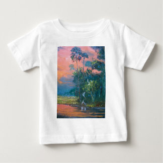 Tropical Fire sky Over the Pond Baby T-Shirt