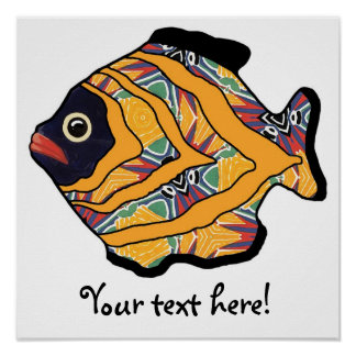 Tropical Fish-06  Tropical Colors Poster