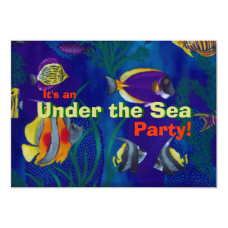 Tropical Fish 1 Personalized Invitation