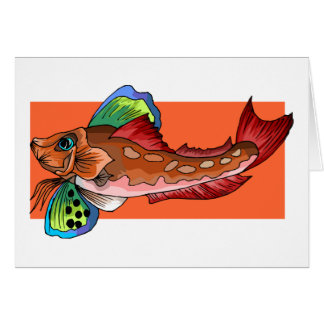 Tropical Fish 1 Popular Cool Retro Fish Greeting Cards