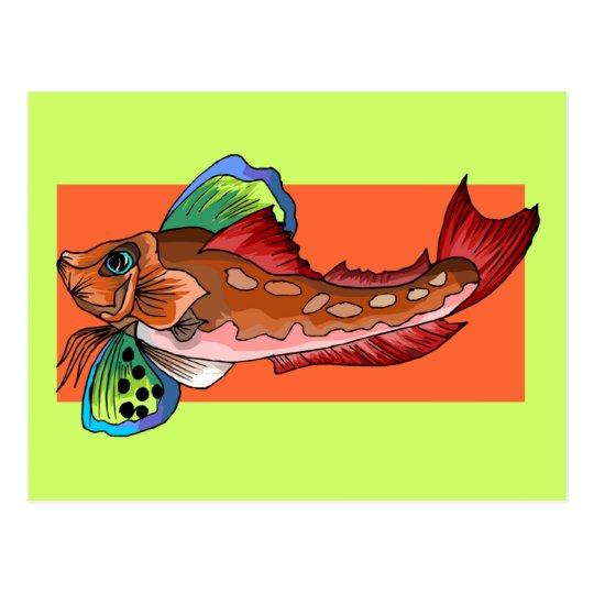 Tropical Fish 1 Popular Cool Retro Fish Postcard