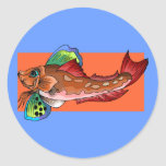 Tropical Fish 1 Popular Cool Retro Fish Round Sticker