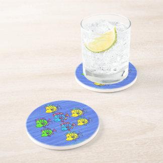 Tropical Fish 1 Sandstone Drink Coaster