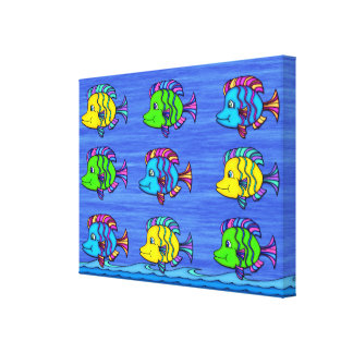 Tropical Fish 1 Wrapped Canvas Print