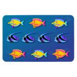 Tropical Fish 2 Flexible Magnets