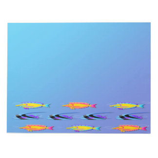 Tropical Fish 2 Large Note Pad