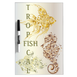 Tropical Fish - 3 Dry-Erase Whiteboards