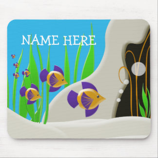 Tropical Fish Add Your Name Kids Mouse Pad