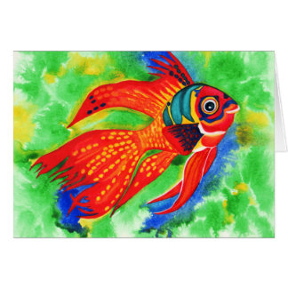 Tropical fish all occasions greeting cards
