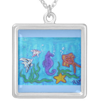 Tropical Fish and Fun Silver Plated Necklace