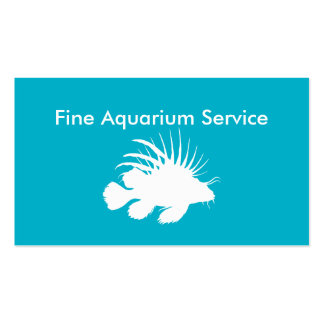 Tropical Fish Aquarium Service Business Card