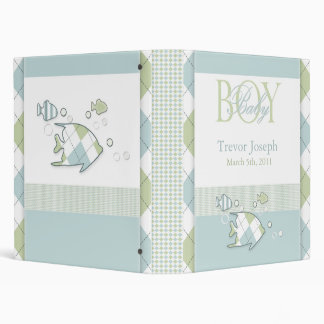 Tropical Fish Baby Boy Photo Album 3 Ring Binder