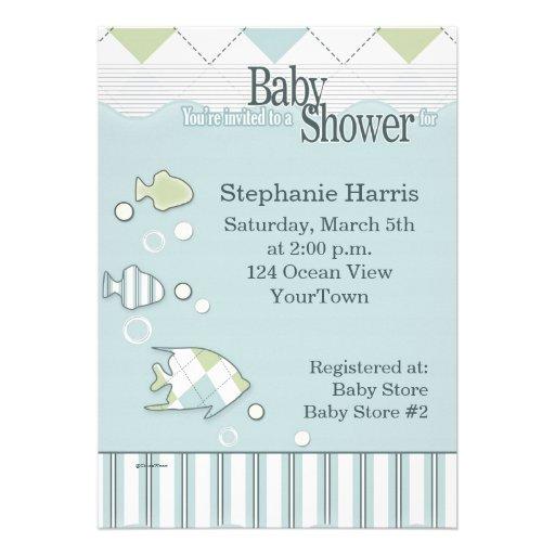 Tropical Fish Baby Shower Invitation