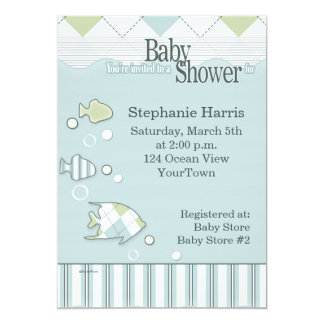 Tropical Fish Baby Shower Invitation