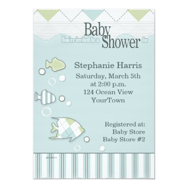 Toddler & Baby themed Tropical Fish Baby Shower Invitation