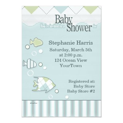 Tropical fish baby shower invitation zazzle filmwisefo Image collections