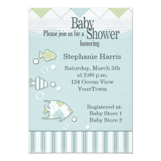 Tropical Fish Baby Shower Invitation #2