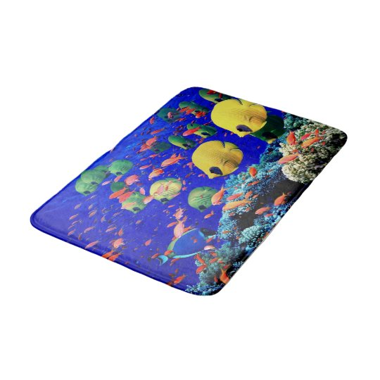 Tropical Fish Bath Room Rug Mat Home Decor