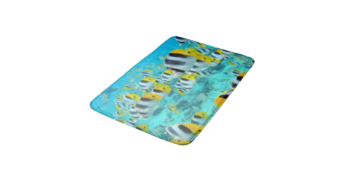 . Tropical Fish Bath Room Rug Mat Home Decor   Zazzle