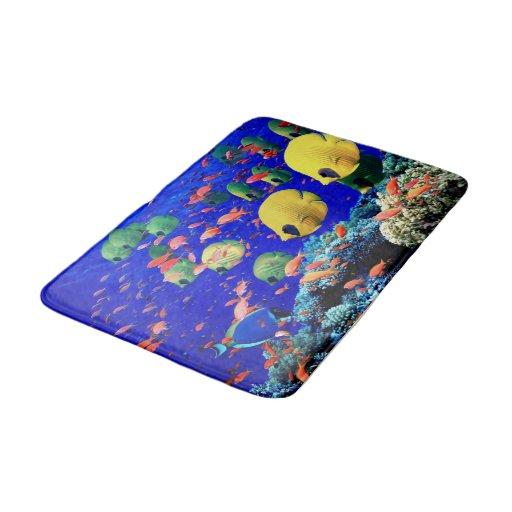 tropical fish bath room rug mat home decor bathroom mat