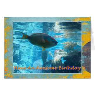 Tropical Fish Birthday Card