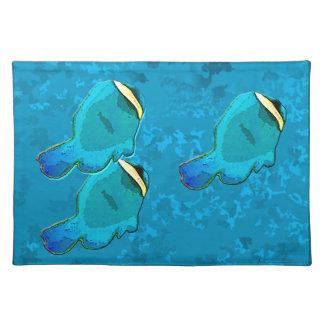 tropical fish blue placemat