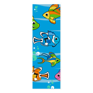 Tropical Fish Bookmark Business Card Templates