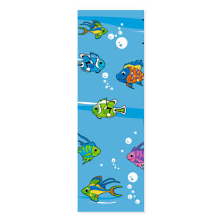 Tropical Fish Bookmark Business Cards