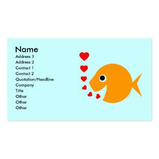Tropical Fish  Breeder Pool Maintenance Card Business Card