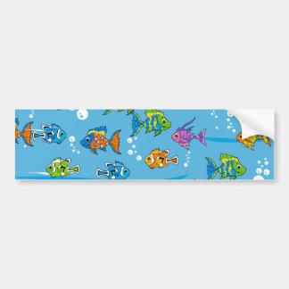 Tropical Fish Bumper Sticker Car Bumper Sticker
