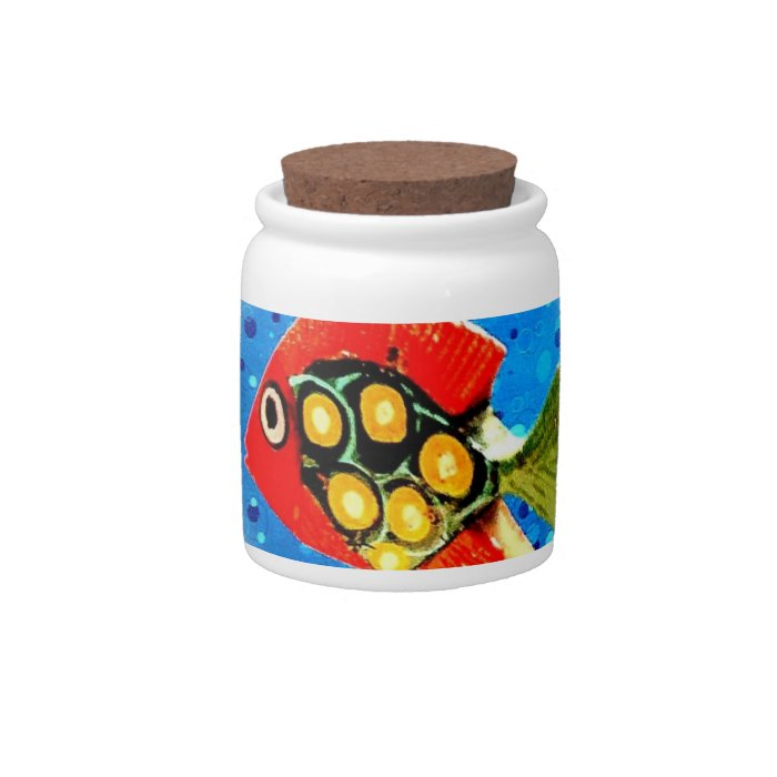 Tropical Fish Candy Jar