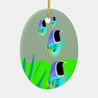 Tropical Fish Ceramic Ornament