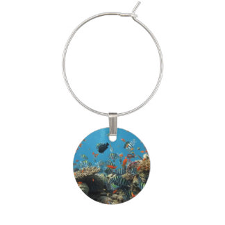 Tropical Fish Chaos Wine Glass Charm