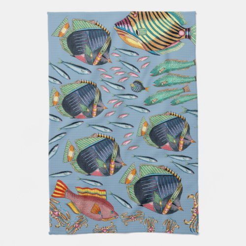 Tropical Fish Coral Reef Kitchen Towel