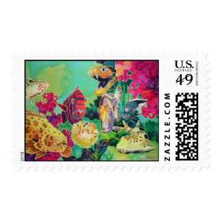 Tropical Fish Coral Reef Postage Stamps