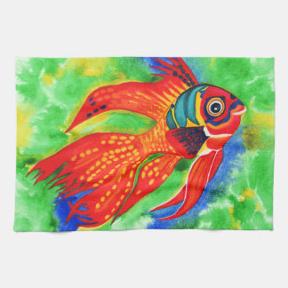 Tropical Fish design kitchen/hand towel